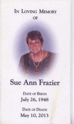 Sue Ann <I>Edgington</I> Frazier