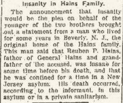 Reuben Peter Hains Sr.