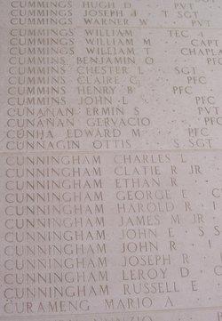 1Lt John R Cunningham
