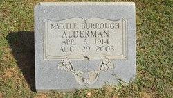 Myrtle <I>Burroughs</I> Alderman
