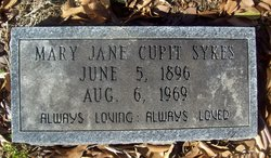 Mary Jane <I>Cupit</I> Sykes