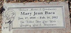 Mary Jean <I>Garcia</I> Baca