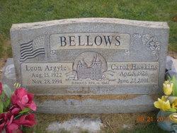 "Edna Carol ""Carol"" <I>Hawkins</I> Bellows"