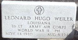 2LT Leonard Hugo Weiler