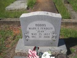 """Mary Eugenia """"Jean"""" <I>Fendley</I> Hobbs"""