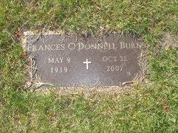 Frances <I>O'Donnell</I> Burns