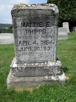 """Martha E """"Mattie"""" <I>McMillan</I> Phipps"""