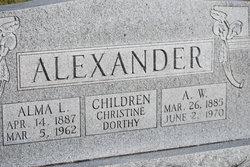 Alma Minnie <I>Lafevor</I> Alexander