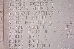 1Lt Robert F Burgie