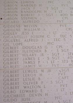 Pvt James W Gilbert