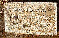 Manettie Rose <I>Drysdale</I> Cook