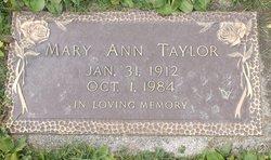 Mary Ann <I>Smith</I> Taylor