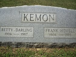 "Elizabeth ""Betty"" <I>Darling</I> Kemon"