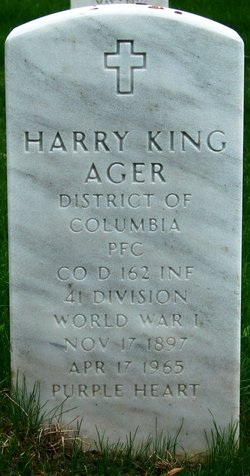 PFC Harry King Ager, Sr