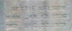 """Frances Elizabeth """"Bettie"""" Nelson"""