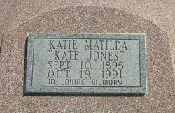 "Katie Matilda ""Kate"" Jones"