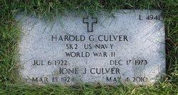 Harold G Culver