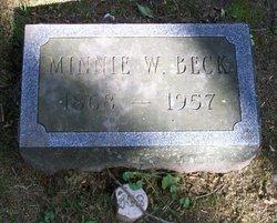 Minnie E <I>Raines</I> Beck