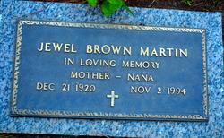 Jewel <I>Brown</I> Martin