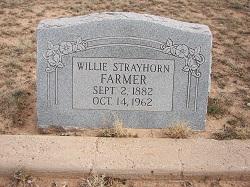 Willie Bob <I>Strayhorn</I> Farmer