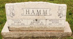 Maggie Amelia <I>Hamm</I> Roser