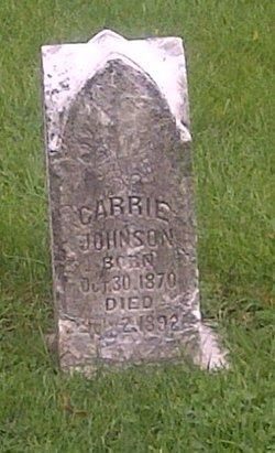 Carrie <I>York</I> Johnson