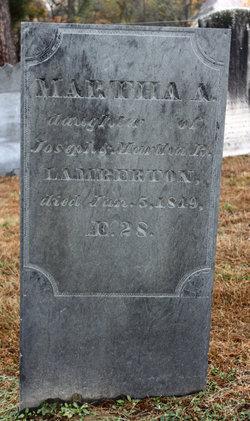 Martha A Lamberton