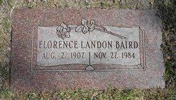 Florence <I>Landon</I> Baird