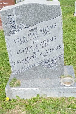 Lola May <I>Patterson</I> Adams