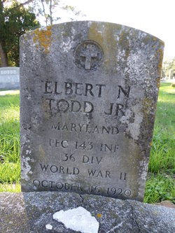 PFC Elbert N. Todd Jr.