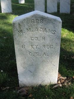 Pvt William M. Adams