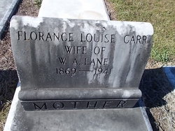 Florance Louise <I>Carr</I> Lane