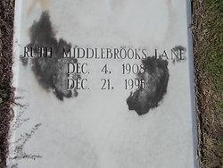 Ruth <I>Middlebrooks</I> Lane