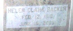 Helen <I>Clark</I> Backer