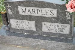 """Roland Duane """"RON"""" Marples"""