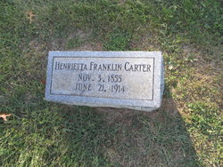 Henrietta <I>Franklin</I> Carter