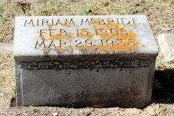 Miriam <I>Loewenstein</I> McBride