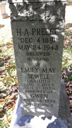 "Emily May ""Maidie"" <I>Sewell</I> Preece"