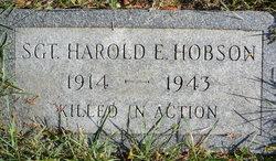 Sgt Harold Edgar Hobson