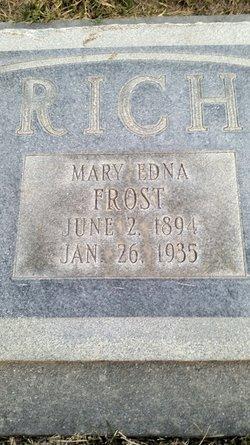Mary Edna <I>Frost</I> Rich