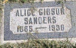 Alice <I>Gibson</I> Sanders