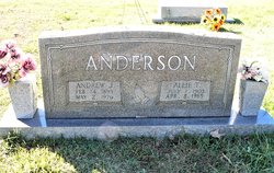 Allie Mae <I>Tate</I> Anderson