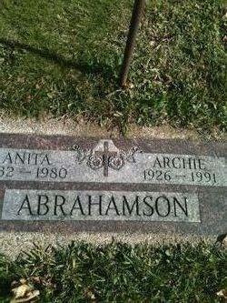 Anita Cynthia <I>Ryberg</I> Abrahamson