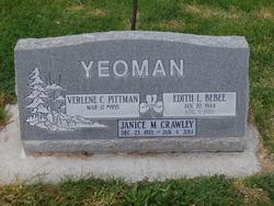 Edith <I>Yeoman</I> Bebee