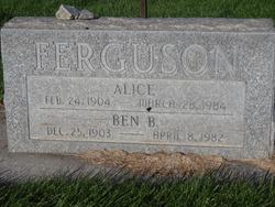 Alice <I>Houghtaling</I> Ferguson
