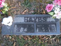 Minnie M <I>Jobe</I> Hayes