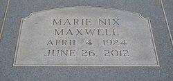 Marie <I>Nix</I> Maxwell