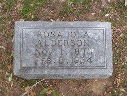 Rosa Iola <I>Hudson</I> Alderson