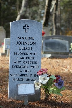 Maxine <I>Johnson</I> Leech
