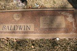 """Effie Dell """"Bonnie"""" <I>Toler</I> Baldwin"""